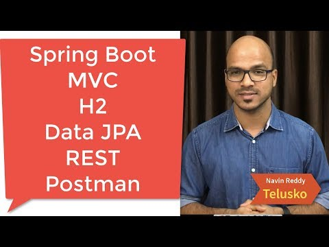 Postman | Spring Boot | Data JPA | MVC | H2 | REST Example Part 6