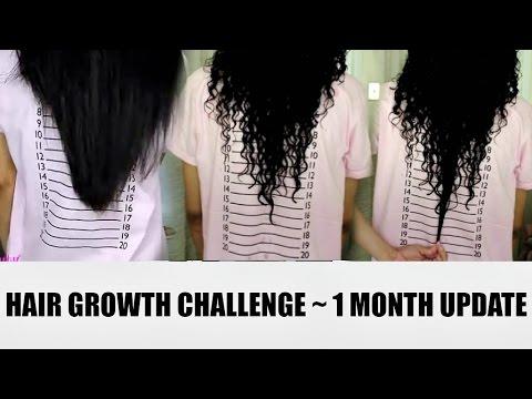 1 MONTH HAIR GROWTH UPDATE w/ PRENATAL VITAMINS