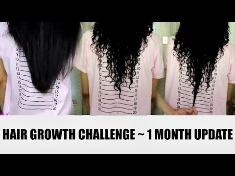 1 MONTH HAIR GROWTH UPDATE w/ PRENATAL VITAMINS 😲