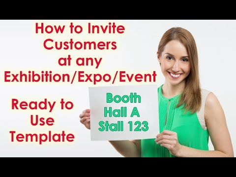 How to send Booth Invitation Letter to Customer