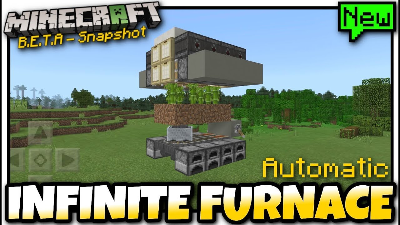 Minecraft - INFINITE FURNACE / Bamboo Farm [ Redstone Tutorial ] MCPE /  Xbox / Bedrock / Java