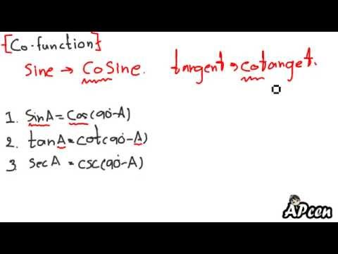 APcen อัตราส่วนตรีโกณมิติ 6 (โค ฟังก์ชัน,co function)