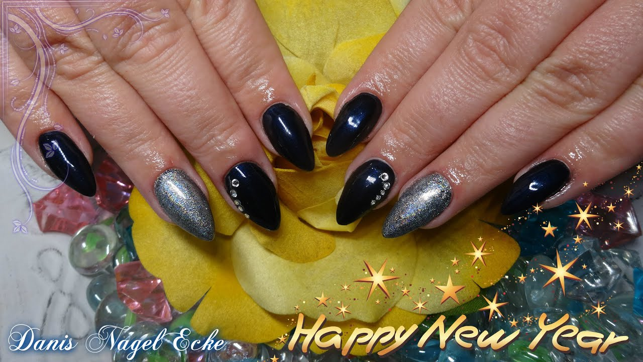 elegante silvester mandel n gel mit swarovski new year almond nails youtube. Black Bedroom Furniture Sets. Home Design Ideas