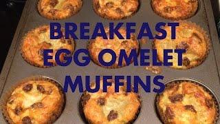 Easy To Make Breakfast Egg Omelet Muffins