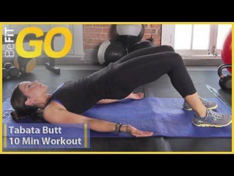 BeFiT GO: Tabata Butt 10 Minute Circuit Training Workout