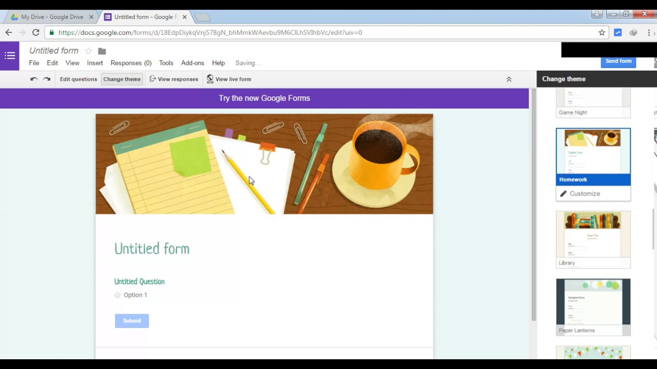 How to switch back to old google forms - YouTube