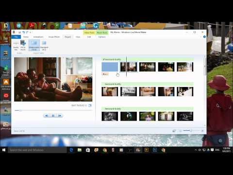 Making a slideshow with Windows Live Movie Maker