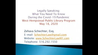 Legally Speaking 5-18-20