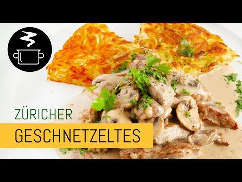 Züricher Geschnetzeltes mit Kartoffelrösti - Zubereitung und Zutaten