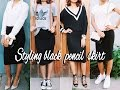 How to Style: Black Pencil Skirt