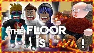 THE FLOOR DE GRAND PERE IS LAVA ! Parcours ROBLOX avec Mary !