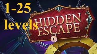 Hidden Escape Прохождение - Большой побег 100 Дверей  - 1 - 25 уровень (1-25 levels)