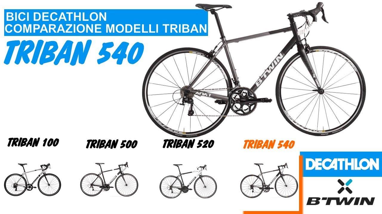 DECATHLON comparazione modelli bici corsa: Btwin Triban 540