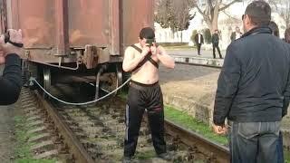India got talent man pulling train