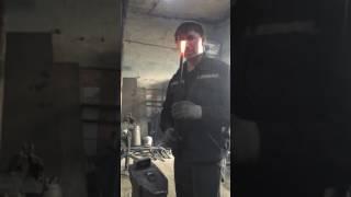 Видео урок по ковке 2 завиток в форме свитка часть 1