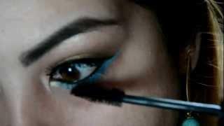 Maquiagem inspirada na Demi Lovato - Ouro e Turquesa por Talita Almeida Thumbnail