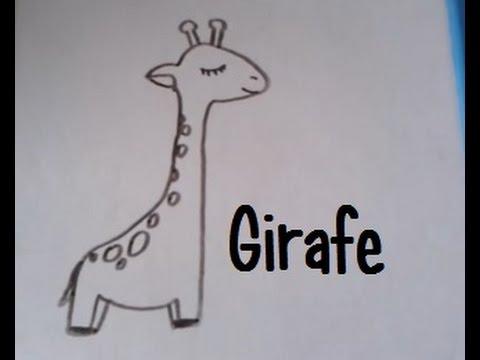 Dessiner Une Girafe Version 2 Youtube