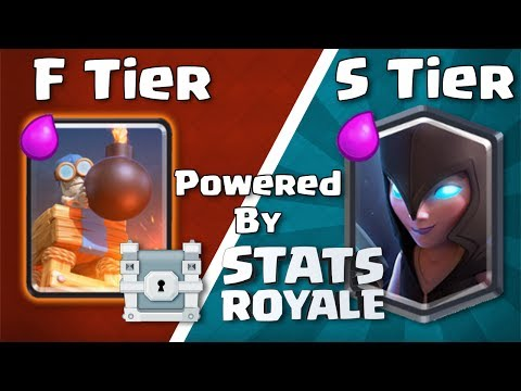 Best and Worst cards in Clash Royale - Clyde's Card Tier List V15