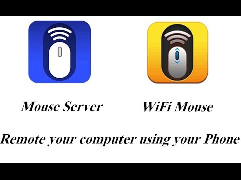 d0deb23f0b0 How to remote your computer from your phone using Mouse Server & WiFi mouse  2018