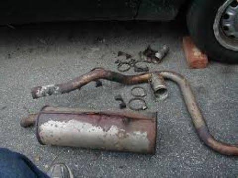 rusted exhaust car repair