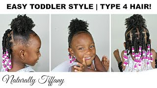Quick Easy Toddler Style | Type 4 Hair | Kids Natural Hair Care