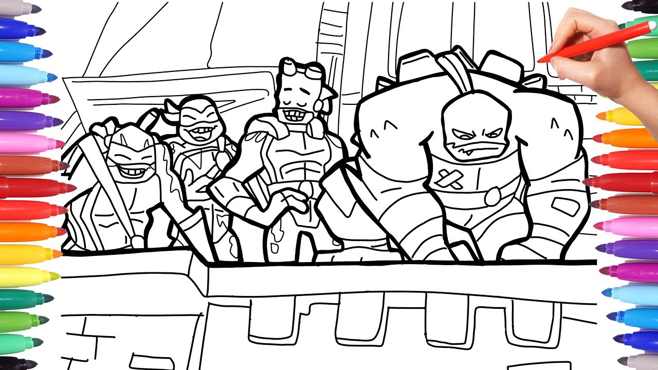 Rise Of The Teenage Mutant Ninja Turtles Coloring Pages How To Draw Tmnt Tmnt Coloring Pages Youtube