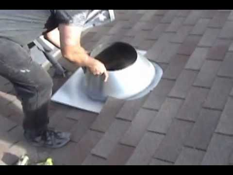How To Install A Chimney Pipe Roof Flashing Youtube