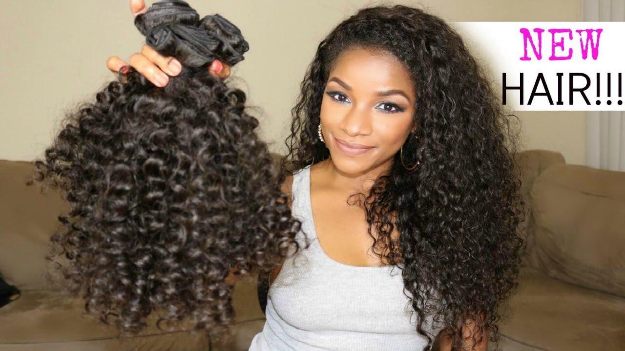 Hair Styles For Short Virgin Hair: PremierLaceWigs.com Peruvian Candy Curl Unboxing