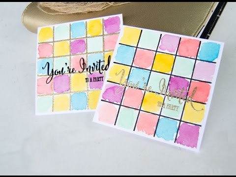 Diy Party Invitations Watercolor Party Invitations Youtube