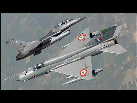 Mig 21 vs F16 dogfights( IAF Epic action)