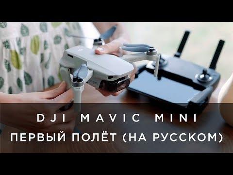 DJI Mavic Mini - Первый полёт (на русском)