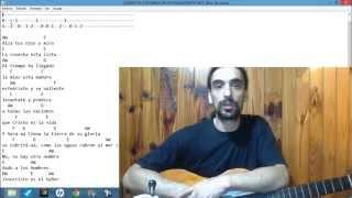 Canción evangelica en guitarra La cosecha