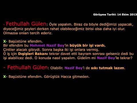 """Fethullah Gülen Mustafa Koç, Uganda Rafineri Ihalesi, Mehmet Nazif Zorlu, TUSKON """"SES KAYDI"""""""