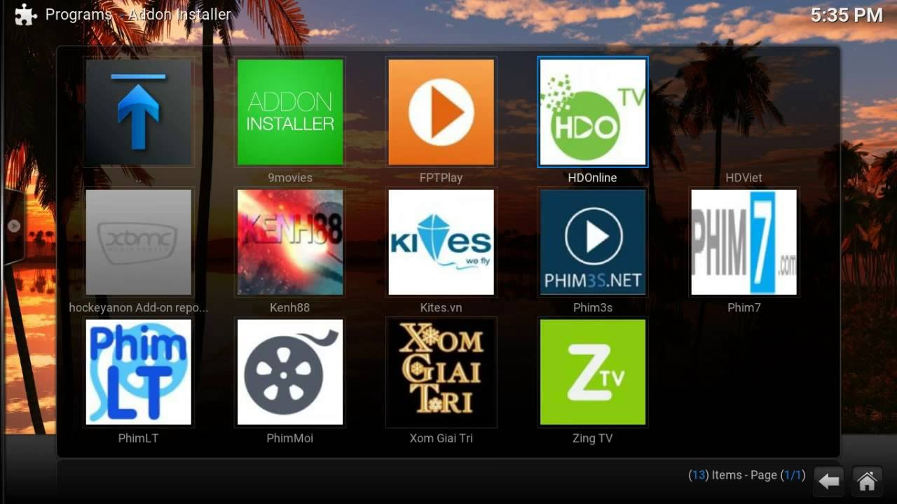 Vietnam Live TV IPTV Channels with Lihat TV Add-On KODI