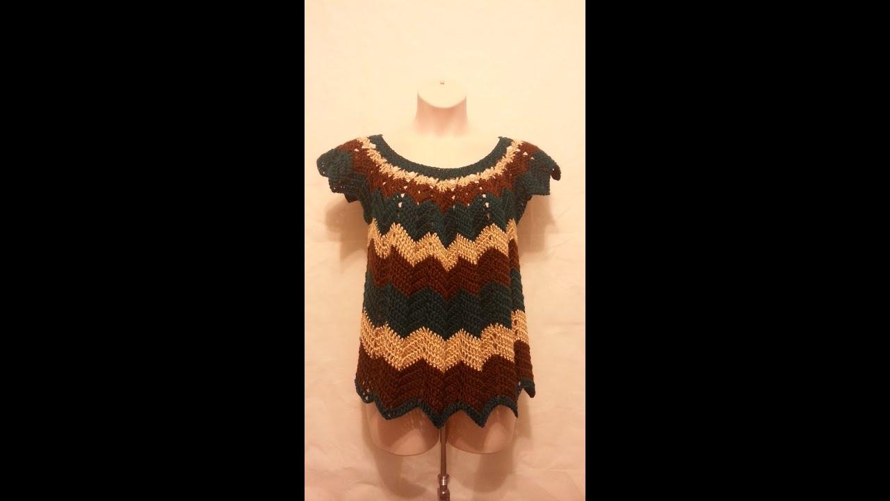 Crochet how to crochet womens plus size chevron shirt top blouse crochet how to crochet womens plus size chevron shirt top blouse tutorial 196 learn crochet bankloansurffo Gallery
