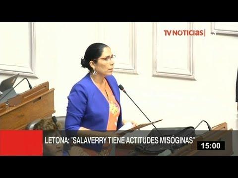 Úrsula Letona: Salaverry tiene actitudes misóginas