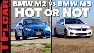 Which Is Faster?  The New AWD BMW M5 vs BMW M2 Mashup Review