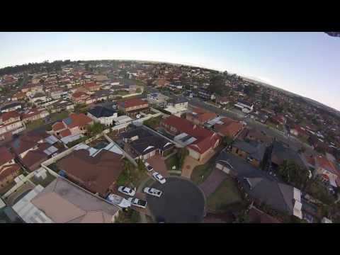 GoPro quad copter filming high NSW Australia HD