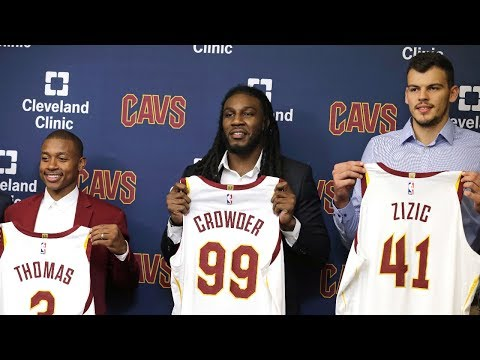 (FULL) Cavaliers officially introduce Isaiah Thomas, Jae Crowder and Ante Zizic | ESPN