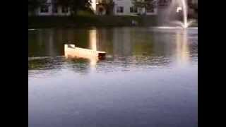 R/C Saginaw Lake Freighter test run 2