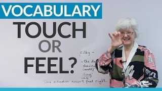 Learn English Vocabulary TOUCH Or FEEL