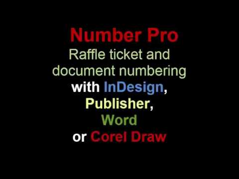 raffle ticket numbering in word - YouTube - numbering tickets in word