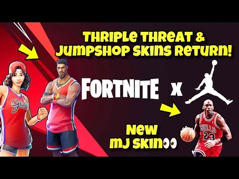 *NEW* Fortnite X Michael Jordan Collaboration! BASKETBALL SKINS RETURN - Fortnite BR (NEW MJ SKIN)