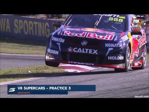 V8 Supercars 2015 Perth Practice 3 Short Highlights
