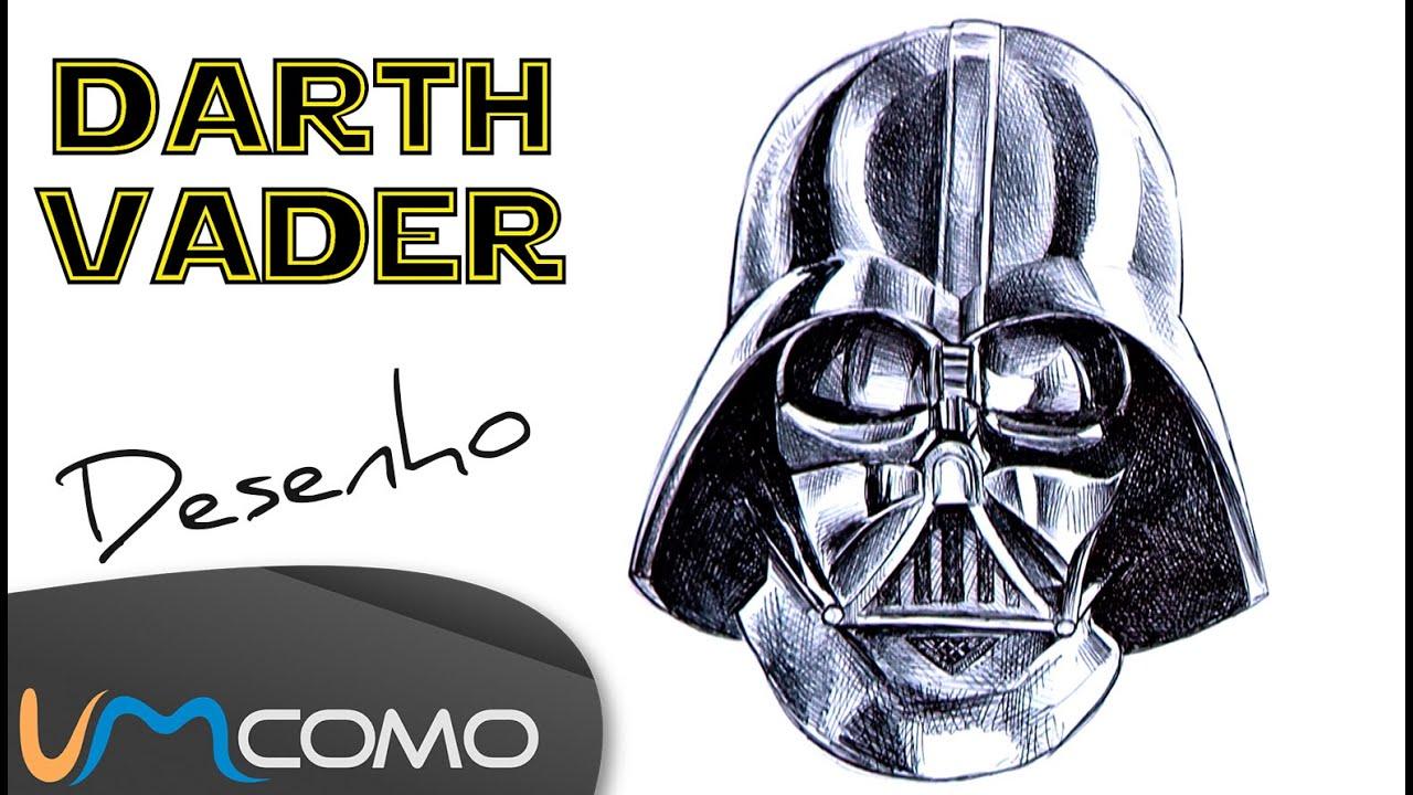 Desenhar A Mascara Do Darth Vader Star Wars Youtube