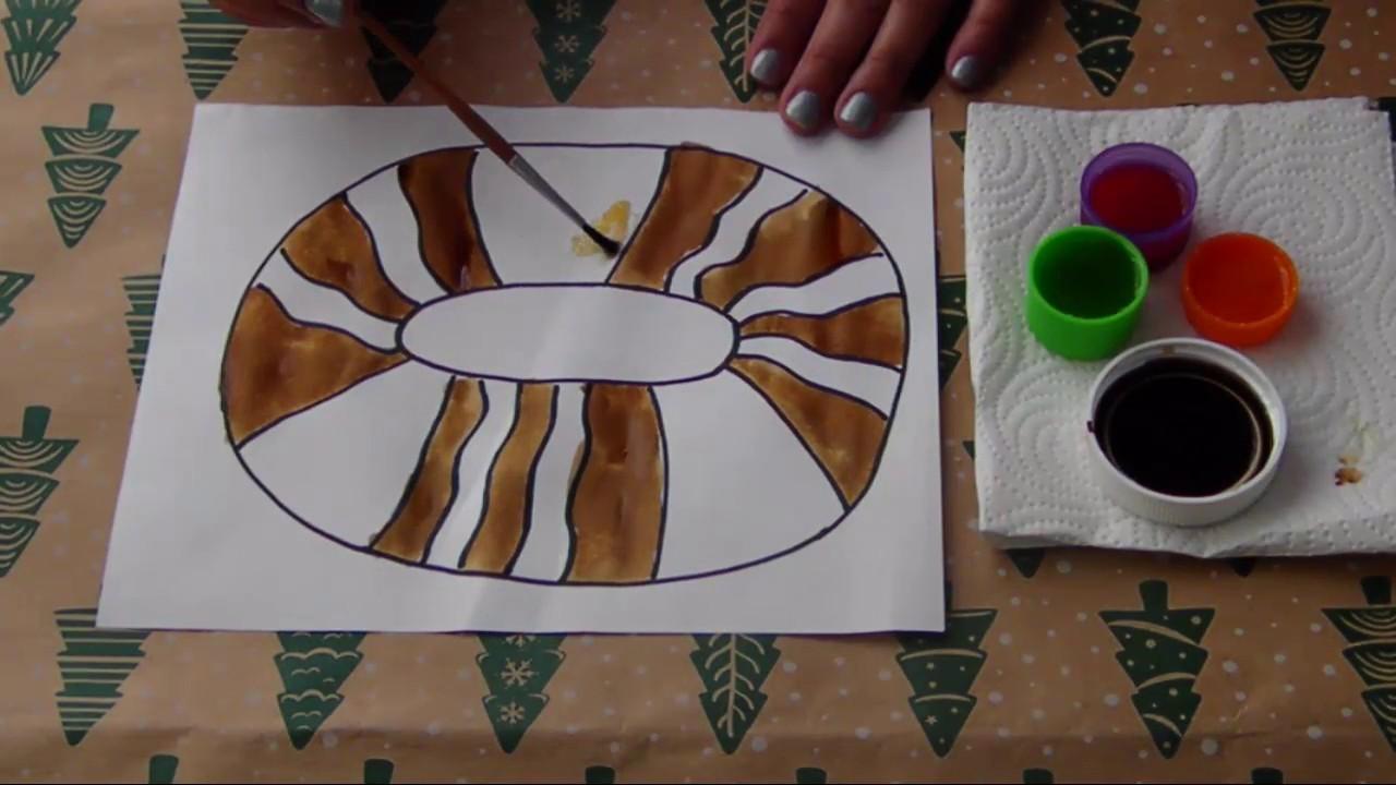 Dibujo De Rosca De Reyes Para Colorear: Manualidad Rosca De Reyes OLOROSA