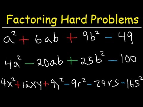 Factoring Polynomials - Hard Challenge Problems, Special Cases - Algebra