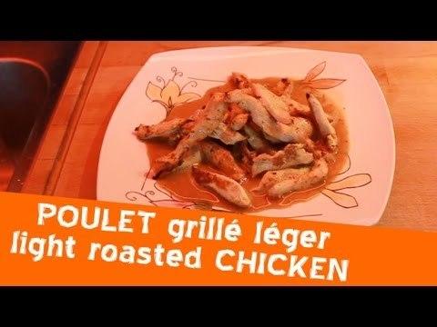 recette-régime,-poulet-grillé-sauce-onctueuse---light-recipe,-roasted-chicken-and-coating-sauce