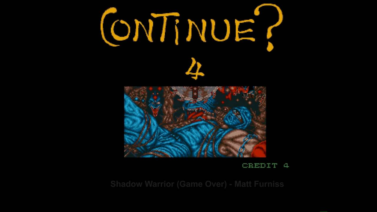 Amiga 500 Shadow Warrior Game Over Youtube