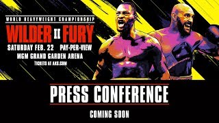 Wilder vs Fury II - Press Conference